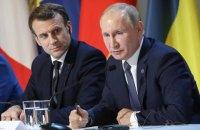 """Путін у розмові з Макроном заявив про """"деструктивні дії Києва"""""""