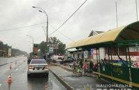 У Броварах поліцейський в'їхав у зупинку, загинула людина