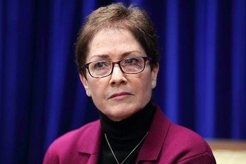 Експосол США в Україні Марі Йованович отримала премію за сміливість