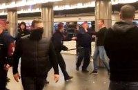 Фанаты клуба Реброва с нацистской символикой напали на болельщиков московского ЦСКА