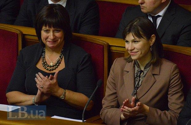 Ганна Онищенко (праворуч) і Наталія Яресько