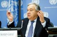 Генсек ООН засудив жорстоке поводження із затриманими демонстрантами у Білорусі