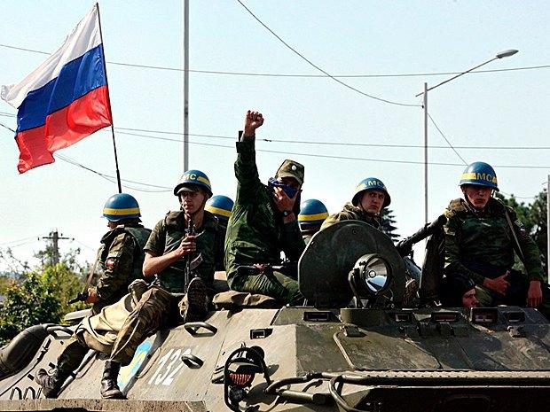 Российские военные в Грузии