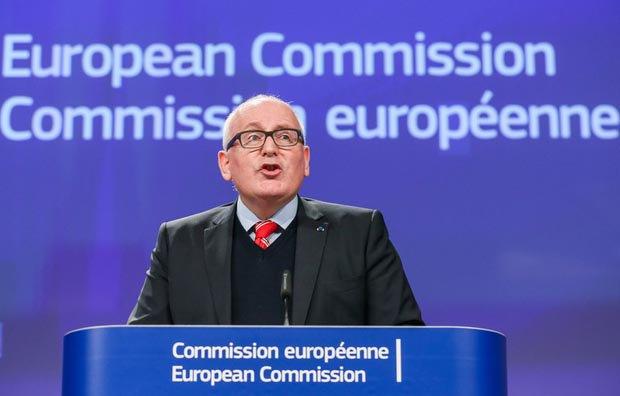 Вице-президент Европейской комиссии Франс Тиммерманс
