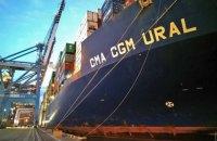 В Одессу прибыл 300-метровый контейнеровоз из Китая