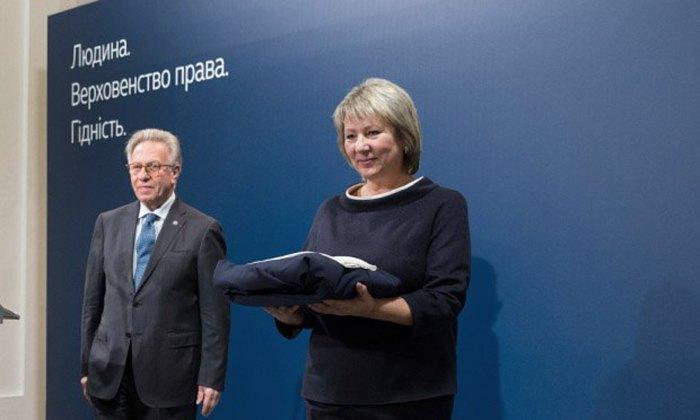 Валентина Данішевська під час складення присяги