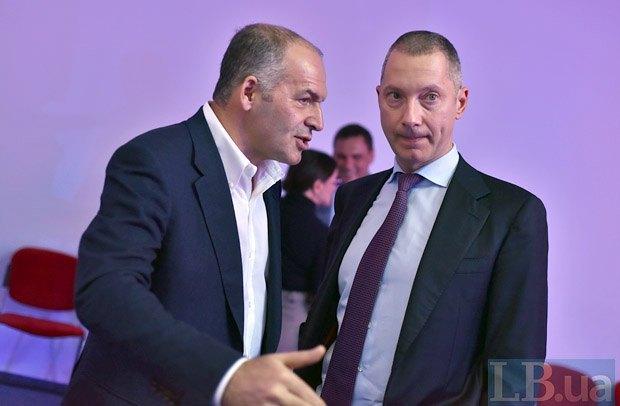 Виктор Пинчук (слева) и Борис Ложкин