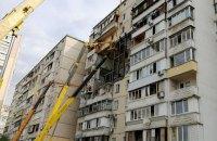 В доме на Позняках, где в июне произошел взрыв, начали работы по укреплению