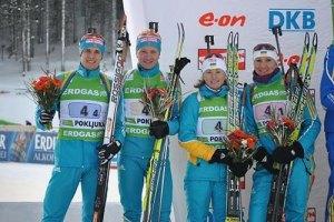 Украина завоевала первую в сезоне медаль Кубка мира по биатлону