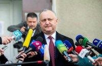 Додон хоче оскаржувати результати виборів президента Молдови у суді