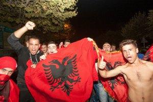 Албанских футболистов на родине встречали как героев