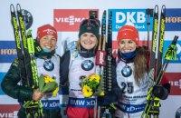Чотири українські біатлоністки фінішували в Топ-15 на етапі Кубка світу