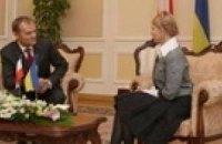 Тимошенко в Польше пообщалась с Туском и Маркель
