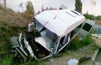 Во Львовской области перевернулся автобус с пассажирами