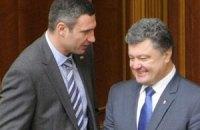 Кличко поддержит Порошенко на выборах президента