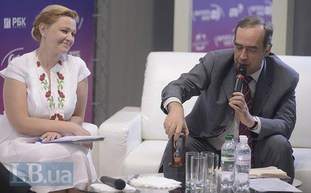 Оксана Продан и Александр Мартыненко, генеральный директор информационного агентства «Интерфакс-Украина»