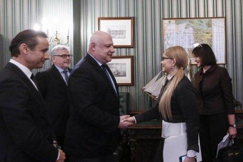 Тимошенко встретилась с президентом Парламентской Ассамблеи ОБСЕ