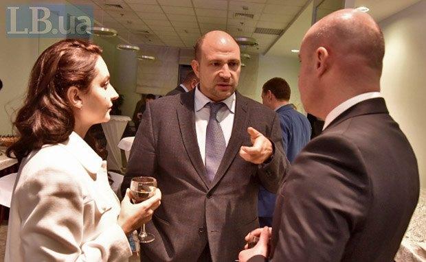 Слева направо: Леся Червинская, Лев Парцхаладзе и Сергей Надал