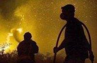 Пожар на иловых полях БСА потушили