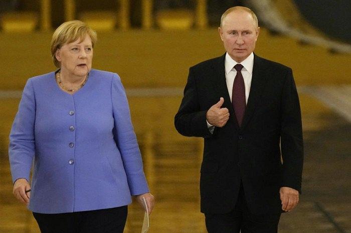 Зустріч канцлерки ФРН Меркель і президента РФ Путіна в Москві. 20 серпня 2021 року