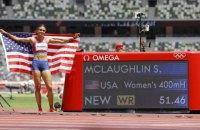 Маклафлін оновила світовий рекорд на 400 м з бар'єрами, українки Рижикова і Ткачук фінішували п'ятою і шостою