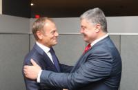 Порошенко призвал Туска усилить давление на Россию
