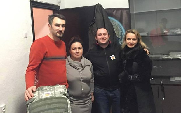 Ирма с волонтерами