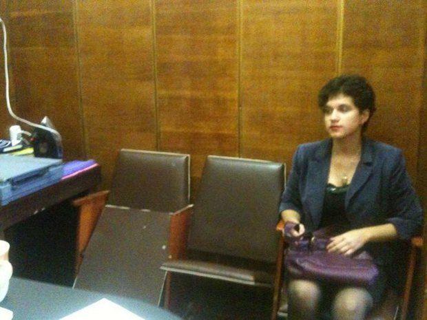 Студентка Степаненко в отделении милиции