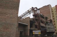 В Тернополе на стройке упал башенный кран