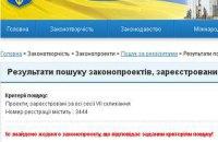 Законопроект о лечении Тимошенко исчез с сайта Рады