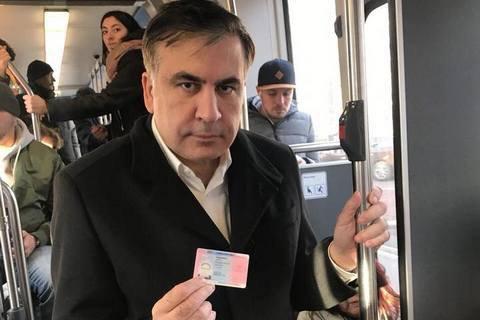 Саакашвили получил в Нидерландах удостоверение личности