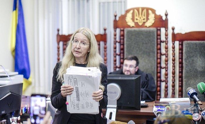 Уляна Супрун на засіданні стосовно клопотання про скасування забезпечення позову на відсторонення від посади