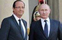 Путин обговорил с Олландом кризис в Сирии