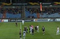 В матче Лиги Европы команда покинула поле из-за появившегося над ареной флага Нагорно-Карабахской Республики