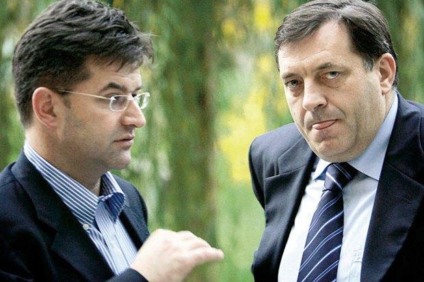Мілорад Додик (справа) та Мірослав Лайчак