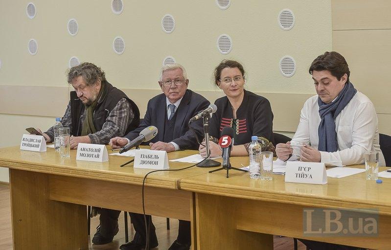 Пьер Тийуа, Изабель Дюмон, Анатолий Молотай и Влад Тройицкий
