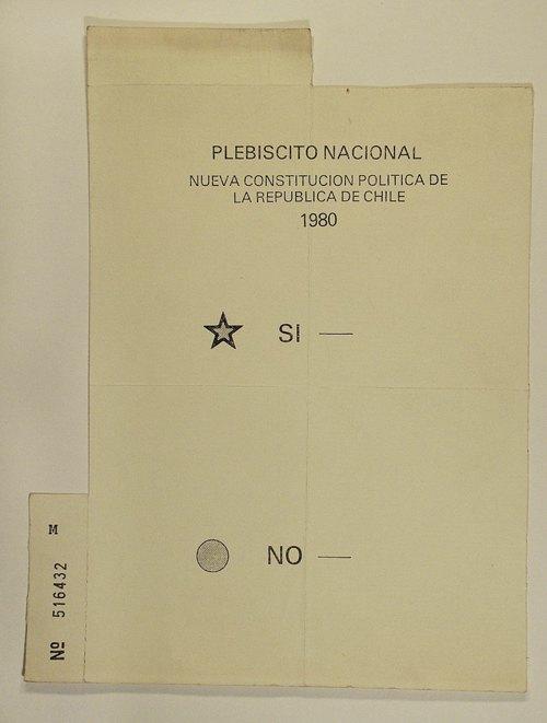 Оригінал бюлетеню з Чилійського конституційного референдума 1980 року.
