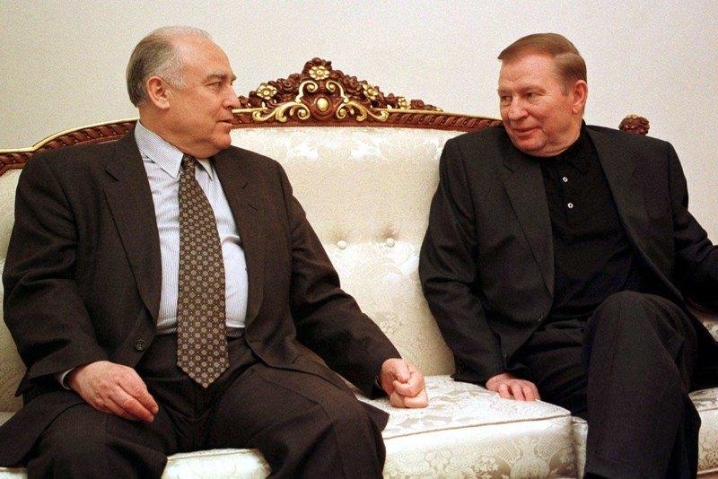Прем'єр-міністр Віктор Черномирдін і президент України Леонід Кучма