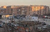 В России взрывом полностью разрушен трехэтажный торговый центр, охранник выжил