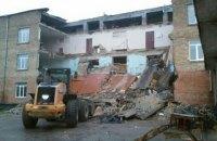 Обвалившееся здание школы в Василькове восстановлению не подлежит