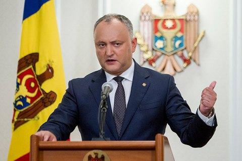 Президент Молдовы потребовал роспуска парламента и перехода на президентскую форму правления