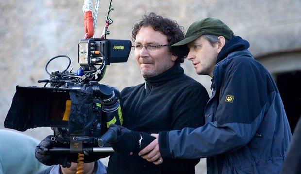 Сергей Лозница (справа) на съемках
