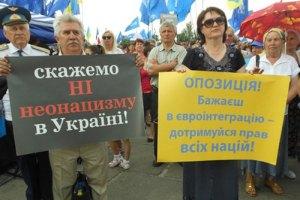 Антифашистский митинг в Харькове разогнала гроза