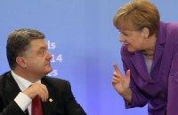 Порошенко и Меркель обсудили, когда можно говорить о мире на Донбассе