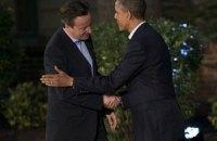 Обама і Кемерон мають намір рішуче протистояти агресії Росії в Україну