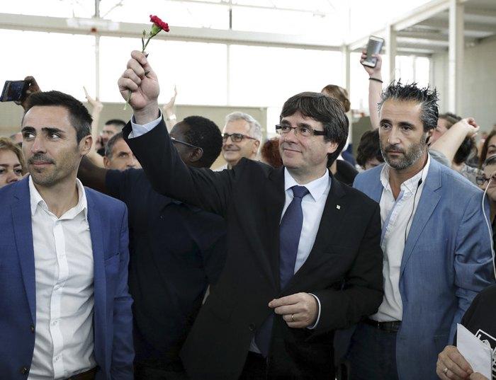 Карлес Пучдемонт после голосования на референдуме