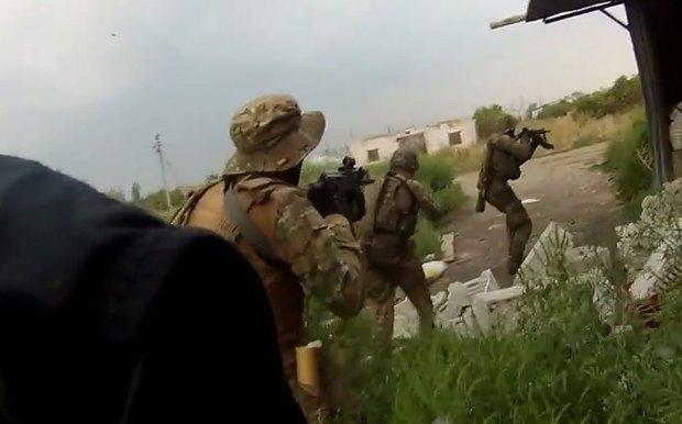 <<Азовцы>> в Грабском во время разведки боем