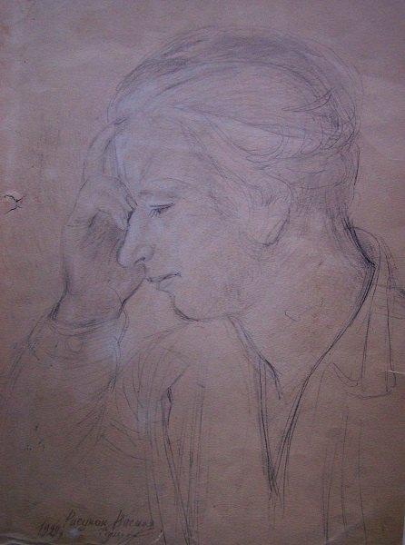 Портрет О.Павленко. 1929