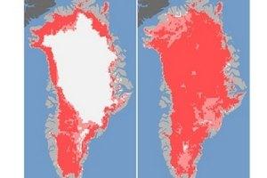 Теплое лето заставило Гренландию потемнеть, - ученые