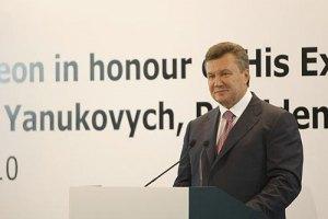 Янукович в поздравлении чешского президента вспомнил о евроинтеграции